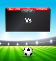Een sjabloon van het voetbalscorebord