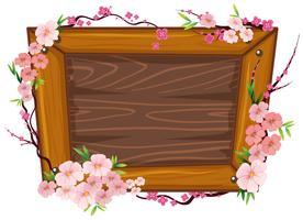 Een houten lijst en Sakura