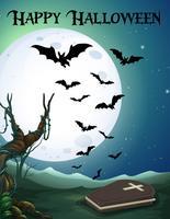 Spooky happy halloween-sjabloon vector