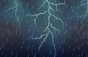 Bliksemaanval en regen onweersbui