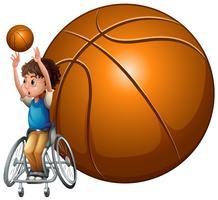 Basketbal Para Games op witte achtergrond