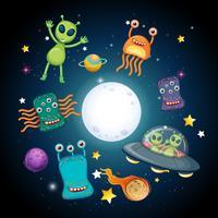 Een ruimte en aliens
