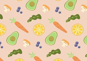 Voedsel patroon vector