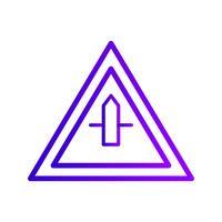 Vectorkleine Cross Road Sign-pictogram vector