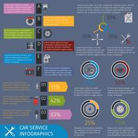 Autoservice infographics vector