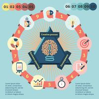 Idee infographics instellen vector