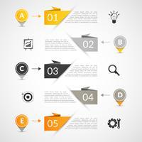 Papieren infographics sjabloon