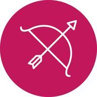 Boog pictogram vectorillustratie