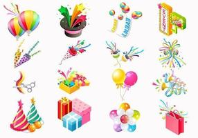 Party icon vector pack