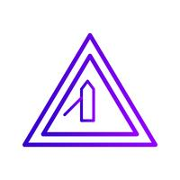 Vectorkleine Dwarsweg van Linker verkeerstekenpictogram vector