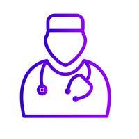 Vector dokter pictogram