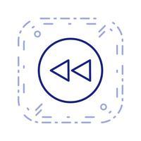 Terug pictogram vectorillustratie vector