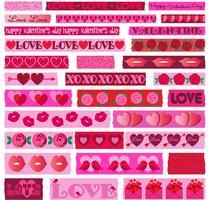 Valentijnsdag washi clipart vector