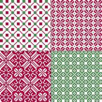 kleine naadloze noordse geometrische patronen vector