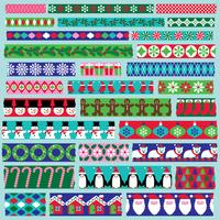 Kerst washi tape clipart vector