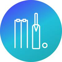 Cricket pictogram vectorillustratie