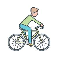 Fietser pictogram vectorillustratie vector