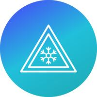 Vector risico van ijs verkeersbord pictogram