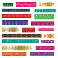 paisley washi tape clipart vector