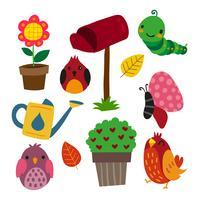 tuin vector collectieontwerp
