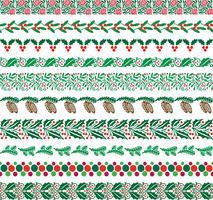 Kerstmis grenspatronen vector
