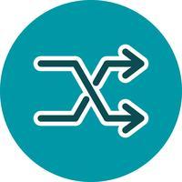 Shuffle pictogram vectorillustratie vector