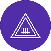 Vector kruising (met poort) Verkeersbordpictogram