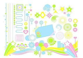 Funky design elementen vector pack