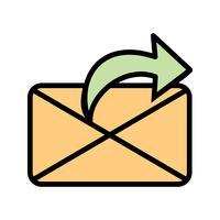 Vector pictogram voor bericht verzenden
