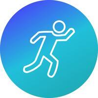 Runner pictogram vectorillustratie vector