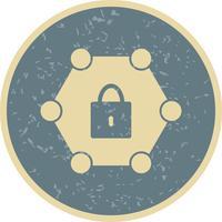 Vector beschermd netwerkpictogram