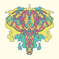 Geschilderde olifant illustratie. vector