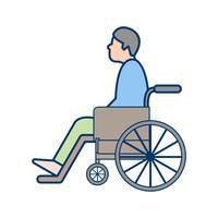Vector gehandicapt pictogram