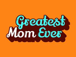 Beste moeder ooit vector