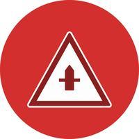 Vectorkleine Cross Road Sign-pictogram
