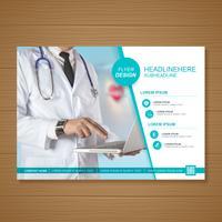 Gezondheidszorg dekking a4 sjabloonontwerp voor een rapport en medische brochureontwerp, flyer, folders decoratie voor afdrukken en presentatie vectorillustratie