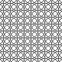 Naadloos abstract patroon met cirkels vector