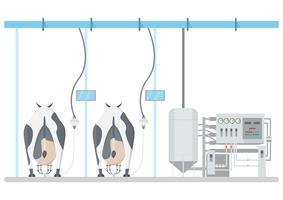industrieel zuivelproduct en melkverwerking met technologie uit de fabriek vector