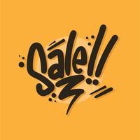 verkoop typografie