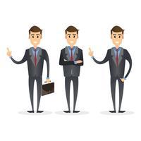 slimme zakenman in verschillende poses
