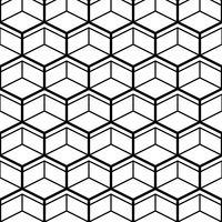 Naadloos patroon met zwarte lijnzeshoeken vector