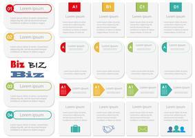 Reeks geassorteerde bedrijfs-gerelateerde die info-grafiek, markeringen, en pictogrammen op witte achtergrond wordt geïsoleerd. vector