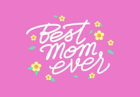 Script handgeschreven moeder typografie vector