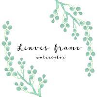 aquarel groene bladeren frame