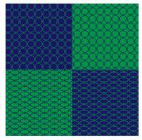 blauwe en groene geometrische kettingpatronen vector
