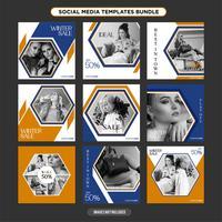 Sjabloon voor veelzijdige social media-sjablonen booster.sale en kortingsbanner, geschikt voor uw promotie