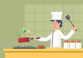 Chef-kok vectorillustratie