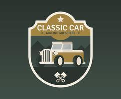 Auto Retro-badge