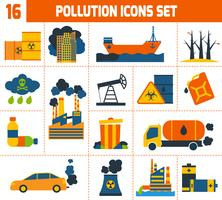 Vervuiling Icons Set vector
