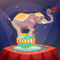 Circus olifantsposter vector